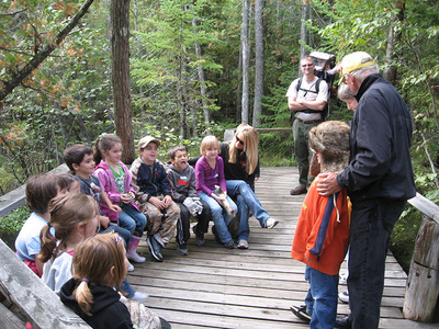 Outdoor classroom at Grass River Natural Area