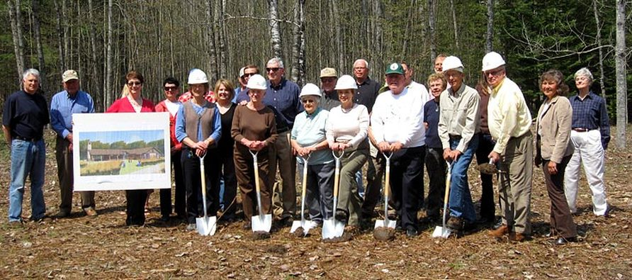 Groundbreaking for the new Grass River Center completed in 2011